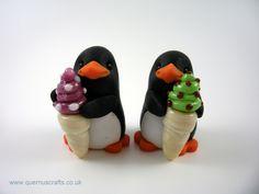 Little Penguin with Glass Ice Cream (Ice cream by Phoenix Glass)