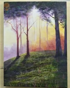 10 pretty landscape pictures for home decor - painting tutorial videos Part 8 -. - 10 pretty landscape pictures for home decor – painting tutorial videos Part 8 – 10 pretty lands - Canvas Painting Tutorials, Diy Canvas Art, Painting Videos, Canvas Canvas, Painting Trees On Canvas, Rock Painting, Painting Techniques, Paintings Of Trees, Beginner Painting On Canvas