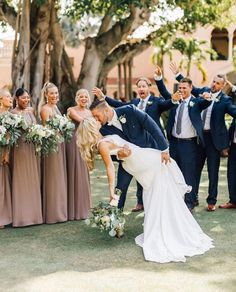 You may kiss the bride 😘❤️💍 bridesmaids wearing Dune Chiffon Mumu Bridesmaid Dresses, Wedding Bridesmaids, Bridal Dresses, Mumu Wedding, Here Comes The Bride, Wedding Pictures, Wedding Bells, Wedding Colors, Wedding Inspiration