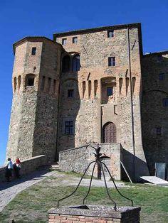 Rocca Fregoso, a castle in Santa'Agata Feltria, a comune in the province of Rimini, in Emilia-Romagna.