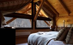 Ferme de Moudon is the most impressive luxury chalet in Les Gets made famous by Nicky Dobree's restoration captured on Grand Designs Snow Cabin, Cozy Cabin, Attic Renovation, Attic Remodel, Attic Design, Interior Design, Chalet Interior, Attic Storage, Attic Organization