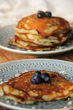 De smaak van Cécile: Yoghurt-havermout pannenkoekjes met bosbessen