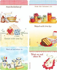 de jolies étiquettes pour accompagner vos cadeaux gourmands...