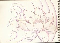 lotus sketches | Lotus Flower Sketch 1 by PurpleRiot on deviantART