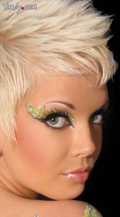 Tinkerbell Glitter Ravewear Eye Kit, Pixie Glitter Eyes, Green Glitter Eye Make Up Tinkerbell Makeup, Disney Makeup, Tinkerbell Party, Exotic Eye Makeup, Pixie Costume, Ideas Principales, Glitter Eye Makeup, Fairy Makeup, Makeup Kit