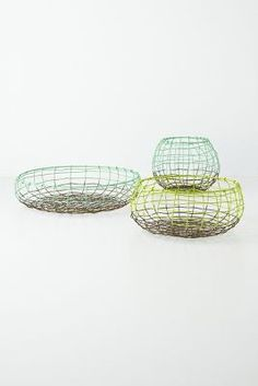 #Anthropologie, #PinToWin Wire Basket Trio