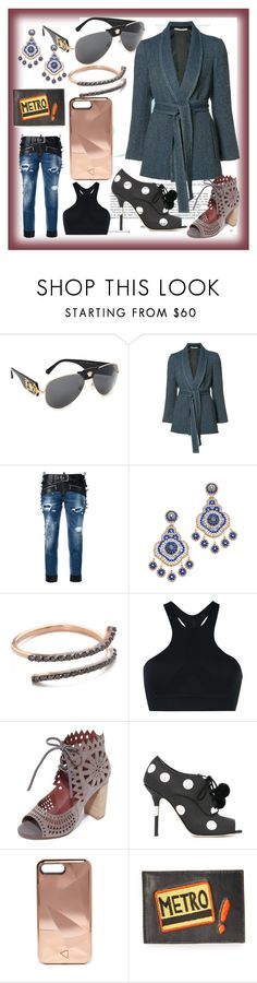 """set for amazing"" by denisee-denisee ❤ liked on Polyvore featuring Versace, Rosetta Getty, Dsquared2, Miguel Ases, Kismet by Milka, Y-3, Jeffrey Campbell, Dolce&Gabbana, Rebecca Minkoff and Lizzie Fortunato"