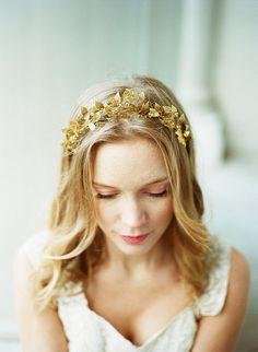 Elsa Billgren for The Wild Rose brass leaf by TheWildRoseWeddings