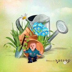 """Sweet-Chick Scrap and Co  My page with """"Spring is coming"""" by bee création"""