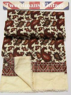 Gifts for Men: Vintage mens wool scarf @ £14.99
