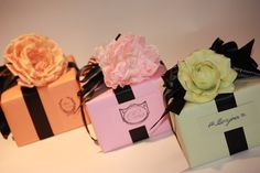 Beautiful sorbet colored gifts from A  Gift Wrapped Life.