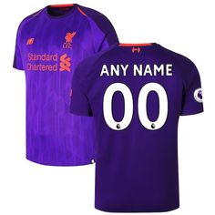 Liverpool New Balance 2018 2019 Away Custom Jersey â   Purple f36a01a97