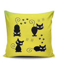 Loving this Cat Life Throw Pillow Cover on #zulily! #zulilyfinds