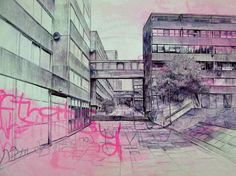 Laura Oldfield Ford - an interesting approach to the representation of bleak inner cities.