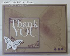 Butterfly Thank You in Perfect Plum