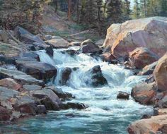 View Rocky Mountain Stream by Clyde Aspevig on artnet. Browse upcoming and past auction lots by Clyde Aspevig. Watercolor Landscape, Landscape Art, Landscape Paintings, Watercolor Paintings, Painting Art, Clyde Aspevig, Waterfall Paintings, Mountain Paintings, Pastel Art