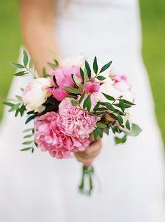 pink wedding bouquet http://www.weddingchicks.com/2013/09/12/rustic-after-the-wedding-shoot-ideas/