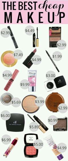 Some make-up that won't break the bank and will having looking nice.