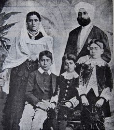 The royal family of Kapurthala, the only Indian royal family known to have converted to Christianity during the British period.