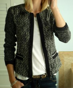 love the jacket and leopard belt!
