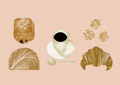 VO | Valérie Oualid : Agent d'illustrateurs | Cécile Huang | But First Cecile, Illustrations, Food, Artist, Illustration, Illustrators