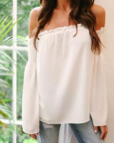Ibiza Off The Shoulder Top - Off White