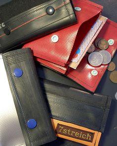 Portemonnaies aus LKW-Plane und Fahrradschlauch