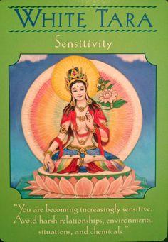 White Tara from Doreen Virtue's Goddess Guidance Oracle cards