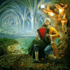 Fantastic imagination by Michael Cheval....