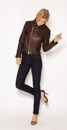 Himel buffalo leather jacket - Imogene + Willie    Way out of my price range, but so gorgeous.