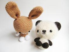 Amigurumi Bunny and Teddy Bear Free Pattern http://www.littlethingsblogged.com/2013/03/amigurumi-bunny-and-teddy-bear.html