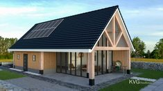 If you are looking for a unique way to give your home a beautiful exterior, then look no further than to a wooden exterior home design. Modern Wooden House, Wooden House Design, Small Wooden House, Small Tiny House, Tiny House Cabin, New Home Designs, Scandinavian Home, Pool Houses, Exterior Design