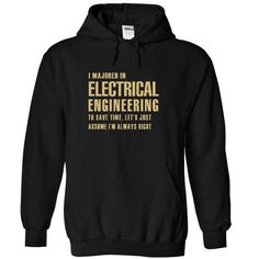 Cool Majored Nº in Electrical EngineeringPerfect Shirt For Any Majored in Electrical Engineering!! Dont miss out this time and dont forget to share with your friends and order together to save a lot on shipping. Guarantee 100% Designed, Shipped, and Printed in the U.S.A.Electrical Engineering, majored