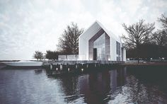 House on the lake on Behance