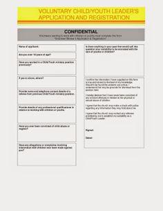 Church Volunteer Application Template Scholarship Application Form