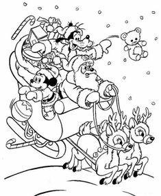 Coloriage de Noel Disney Plus