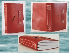 Small Leather Journal - Medieval Limp Binding by Bluelisamh.deviantart.com on @DeviantArt