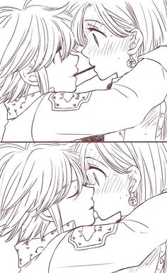 Anime Shojo, Yandere Anime, Otaku Anime, Manga Anime, Anime Art, Elizabeth Seven Deadly Sins, Seven Deadly Sins Anime, 7 Deadly Sins, Anime Love Couple