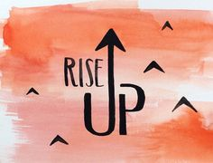 RISE UP Alexander Hamilton Musical Hamilton Broadway Hamilton Musical Quote Original Watercolor Typography Handlettering A. Ham
