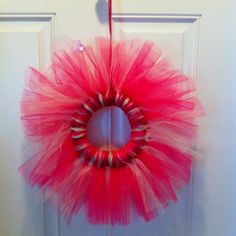Tule wreath! Making one Friday for Valentines day :)