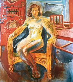 kundst:    Edvard Munch (Nor. 1863-1944)  The girl from the Norland (1932)  Oil on canvas (149x1285)