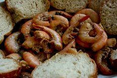 Slow-Cooker Barbecued Shrimp from A Year of Slow Cooking (Easy way to cook shrimp for a party.)