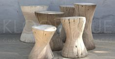 contemporary solid wood stool LOG Lodge Collection is part of Wood stool - Unique Wood Furniture, Timber Furniture, Furniture Design, Tree Stump Side Table, Log Stools, Wood Stool, Wood Creations, Dark Grey Walls, Wood Design