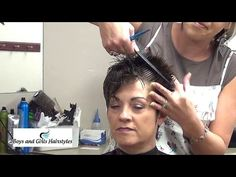 How to Cut Short Asymmetrical Hairstyles | Girls Hairstyles - YouTube