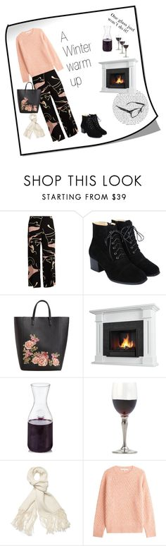 """Winter Warm up"" by glasses4reading ❤ liked on Polyvore featuring Valentino, MANGO, Real Flame, Match, Helmut Lang and Vanessa Bruno"