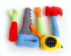 Tool Box Soft Plush soft felt Toy. $28,00, via Etsy.