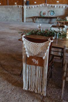 Macrame Chair Decor Name Barns Lodge Farm Wedding Stevie Jay Photography Farm Wedding, Diy Wedding, Wedding Ideas, Wedding Rustic, Wedding Couples, Wedding Reception, Macrame Chairs, Boho Wedding Decorations, Macrame Projects