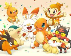 All firetipe generations - Pokemon Ideen Rayquaza Pokemon, Gif Pokemon, Pokemon Comics, Pokemon Fan Art, Pokemon Fusion, Charmander, Pokemon Original, Pokemon Backgrounds, Pokemon Starters
