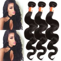 100g/Bundle Black Body Wave Brazilian UK Ship Hot Sale Real Human Hair  Wefts