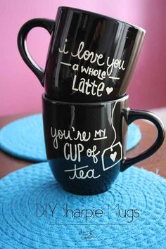DIY - Sweet and cute cup's, great for valentines day